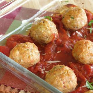 Baked Chicken Parmesan Meatballs.