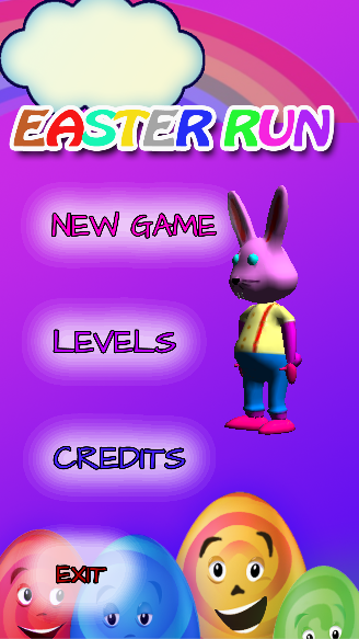 Bunny Run game - Easter Run- screenshot