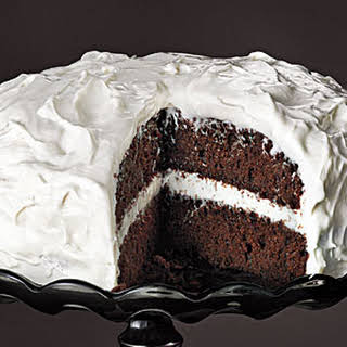 Chocolate Cake with Fluffy Frosting.