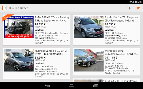 mobile.de – vehicle market Screenshot 35