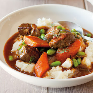 Beef, Carrot, and Edamame Stew with Dill and Lemon
