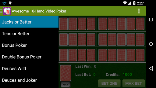 Awesome 10-Hand Video Poker