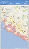 Screenshot of Hawaii Tsunami Info Service