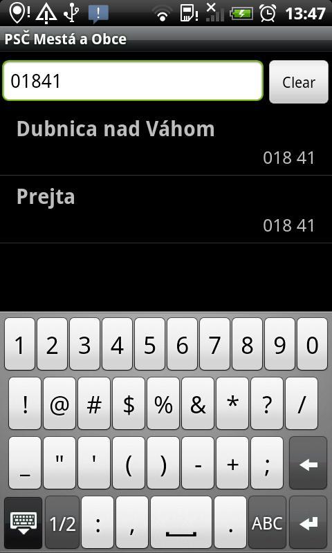 PSČ Slovenské Mestá (PSC) - screenshot