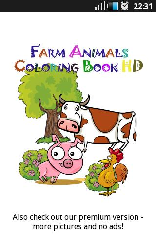 Farm Animals Coloring Book HD