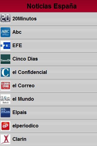 Noticias España- screenshot