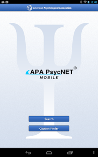 APA PsycNET Mobile- screenshot thumbnail