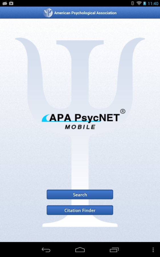 APA PsycNET Mobile - screenshot