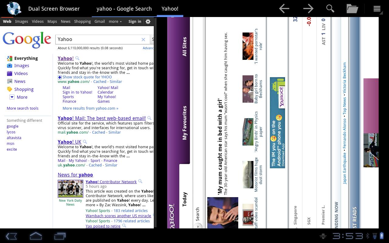 Dual Screen Browser - screenshot