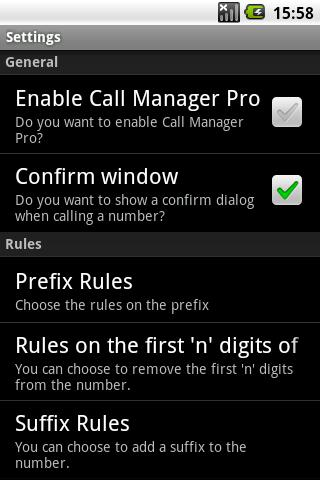 Call Manager Pro - screenshot