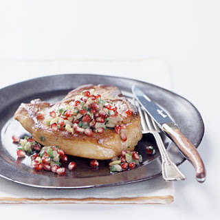Panfried Pork Chops with Pomegranate and Fennel Salsa
