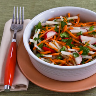 Jicama and Carrot Slaw with Radishes, Cilantro, and Cumin-Lime Vinaigrette Recipe