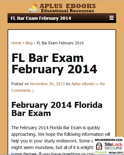 Florida Bar Review Course