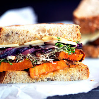 Roasted Yam and Radicchio Sandwiches.