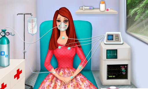 女孩救护车急救流感