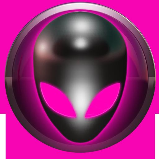 poweramp skin alien pink