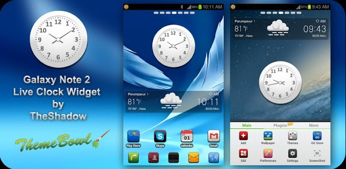 Galaxy Note 2 Live Clock