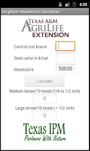 Sorghum Headworm Calculator- screenshot thumbnail