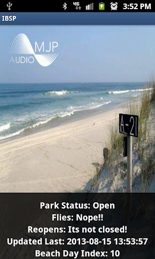 Island Beach State Park Open
