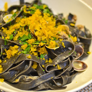 Black Tagliatelle with Clams & Bottarga