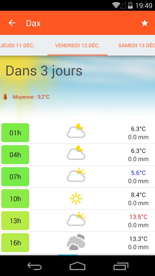 Météo ciel - screenshot
