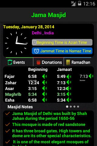 Masjid Timings