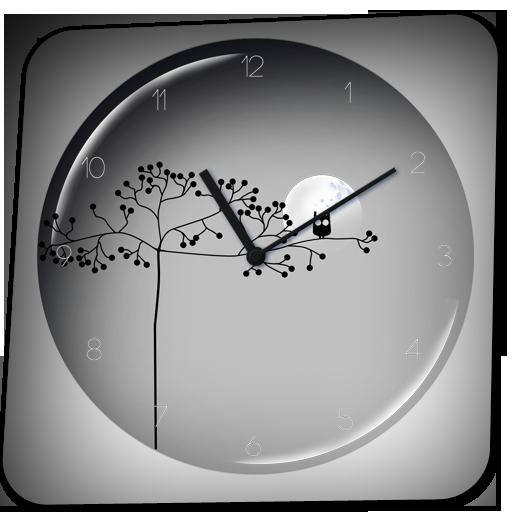 transparent clock apk