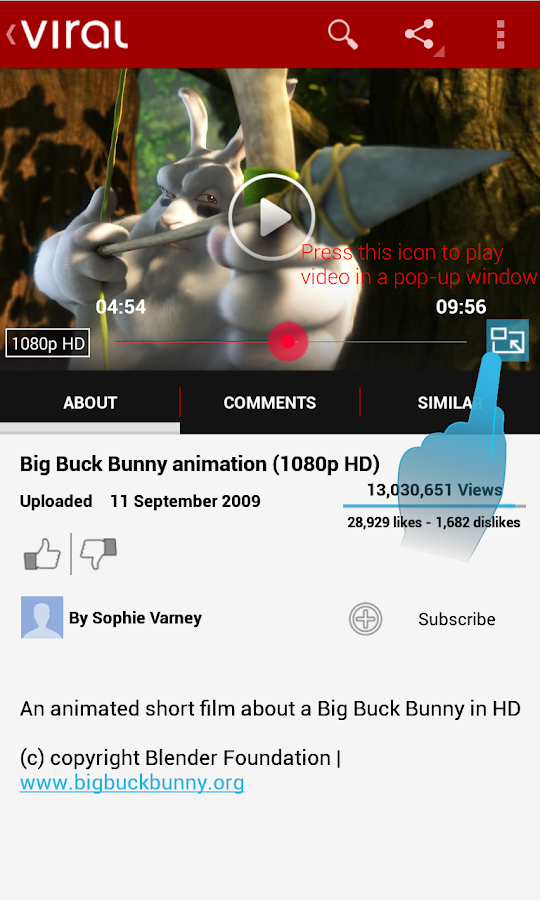 Viral Pro (YouTube Pop-up HD) - screenshot