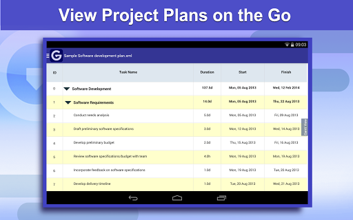 【免費商業App】Gantt Pro -Project Plan Reader-APP點子
