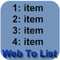 Web To List maker icon