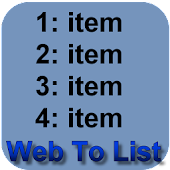 Web To List maker