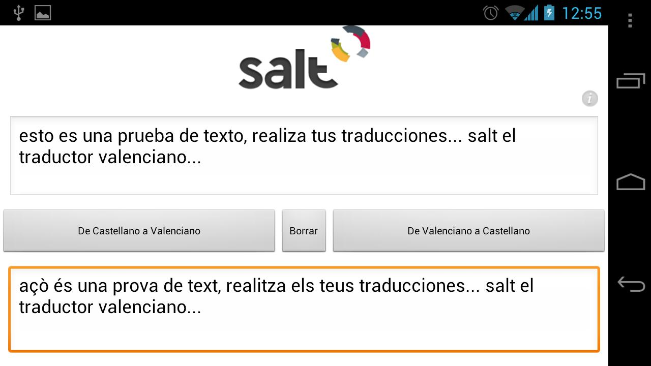 Salt - Traductor Valenciano - screenshot