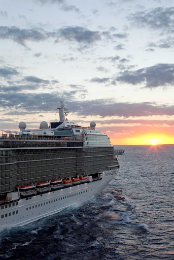 Celebrity_Eclipse_aerial_Miami_4 - One of many sunsets you can catch on your Celebrity Eclipse cruise.