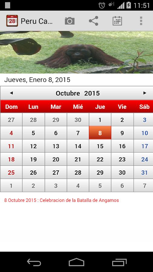 Peru Calendario 2015 - screenshot