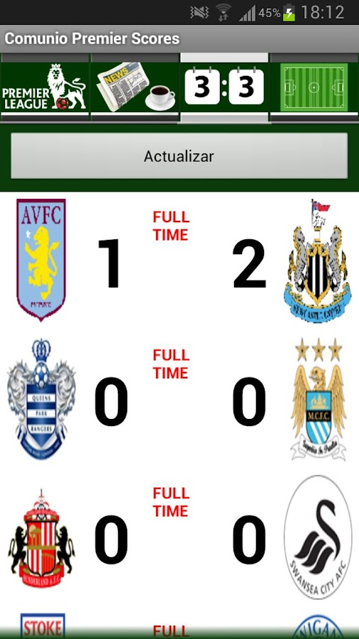 Comunio Premier Scores - screenshot