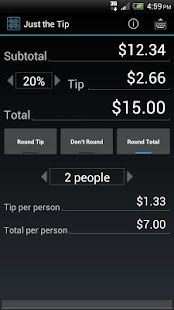 Just the Tip - Tip Calculator - screenshot thumbnail