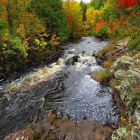 Secret Spot by LeeAnn Heikkila - Landscapes Waterscapes ( waterfalls, river )