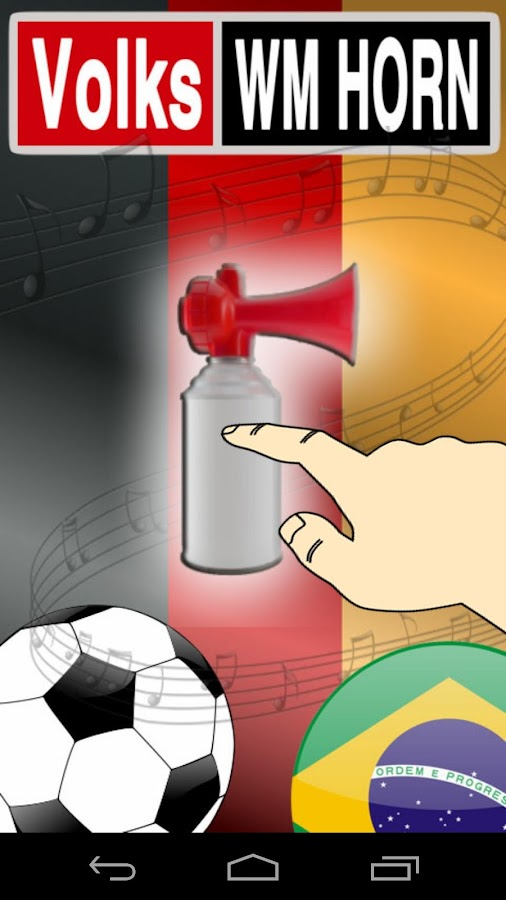 Official Soccer WC Air Horn - screenshot