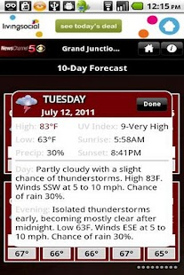 NC5 Weather - screenshot thumbnail