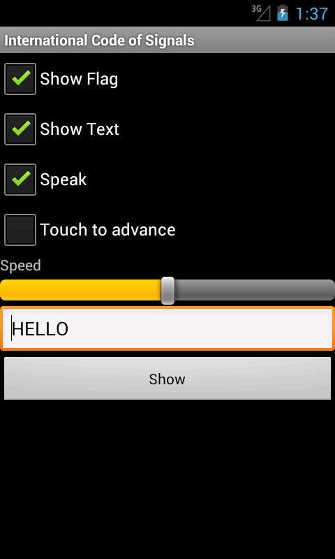 International Code of Signals- screenshot