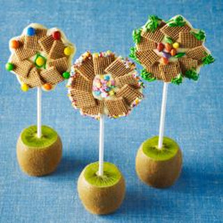 Shreddies Chocolate Flower Pops.