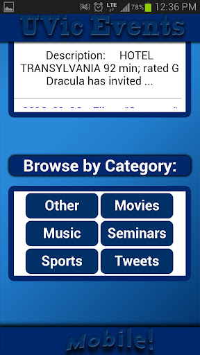 UVic Events Mobile