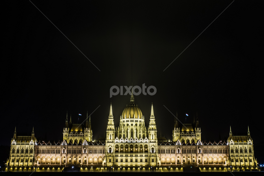 Hungarian Parliament by István Decsi - Buildings & Architecture Public & Historical ( lights, parliament, hungary, budapest, night, Urban, City, Lifestyle,  )