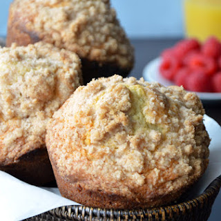 Sour Cream Coffee Cake Muffins with Streusel.