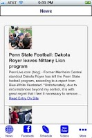 Screenshot of Penn State Football