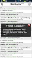 Screenshot of Root Logger