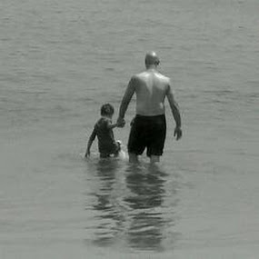 Father and Son by Tracey Chionchio - Black & White Portraits & People