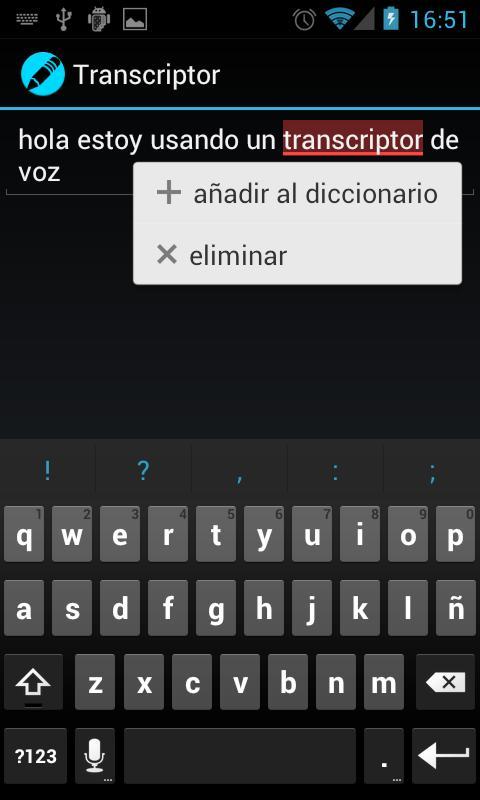 Voice Transcriber - screenshot