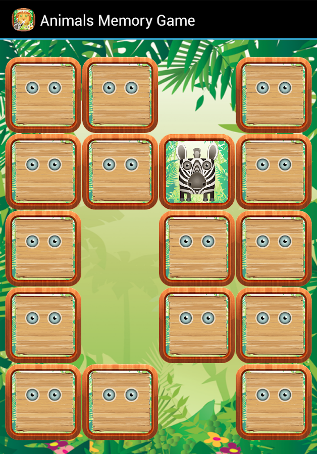 Animals Memory Game - screenshot