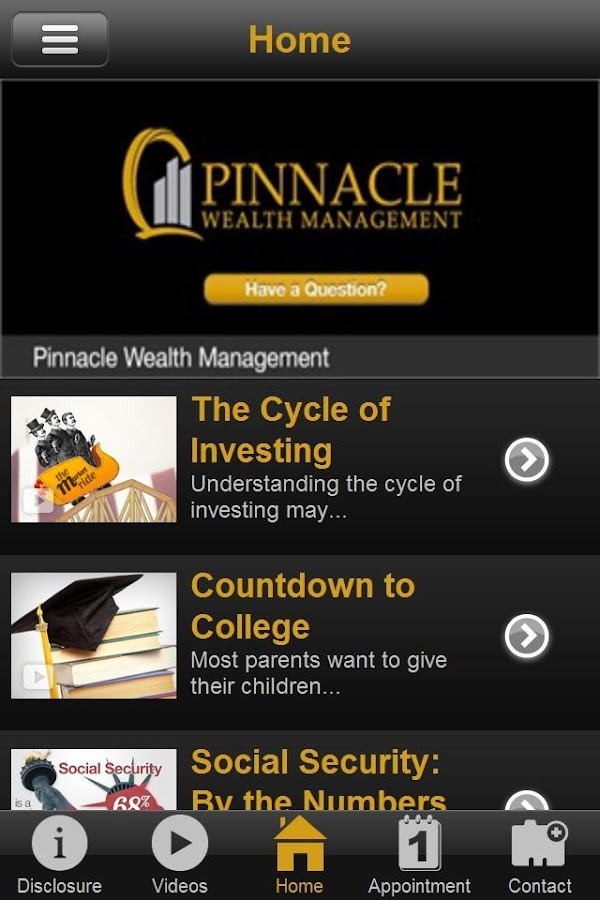 Pinnacle Wealth Management- screenshot